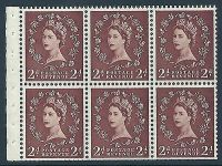 SB78e 2d Wilding listed variety - Bud on Thistle R.2 3 MOUNTED MINT