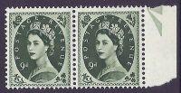 S127b 9d Wilding Multi Crowns variety - Frame Break R.11 11 UNMOUNTED MINT MNH