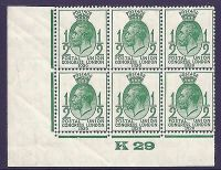 1929 4 values of PUC Control K 29 Blocks of 6 - All MOUNTED MINT Margin only