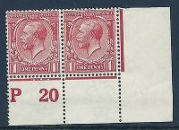 N16(8) 1d Pale Red Royal Cypher Control P 20 perf UNMOUNTED MINT MNH