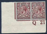 N18(11) 1½d Deep Yellow Brown Royal Cypher control Q 21 imperf UNMOUNTED MINT