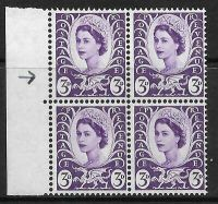 Sg XW1b 3d Wales with listed variety - wing tail flaw UNMOUNTED MINT
