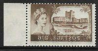 Sg 595a 2 6 Bradbury Wilkinson Castles - full offset UNMOUNTED MINT MNH