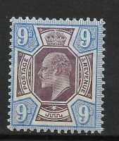 Sg 251 M39(2) 9d Slate Purple  Ultramarine De La Rue UNMOUNTED MINT MNH
