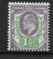 Sg 221 M8(1) 1½d Dull Purple  Green De La Rue UNMOUNTED MINT MNH